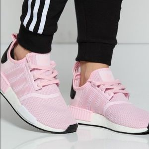 Adidas NMD R 1 pink and black women's size 8.5 EUC